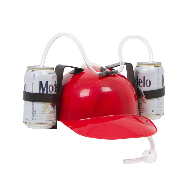 Lazy Helmet Party Favors Beverage Holder Helmet Drinking Straws Plastic Handfree <font><b>Beer</b></font> Drinking <font><b>Hat</b></font> for Kids Birthday Gifts image