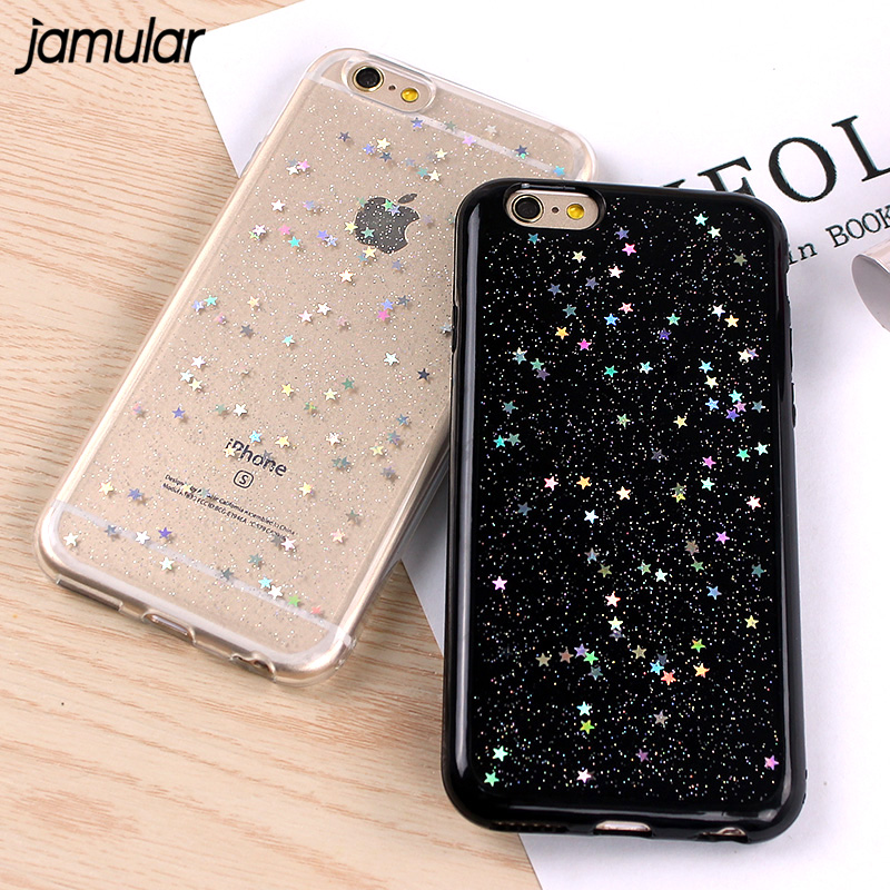 JAMULAR Soft Case For iPhone 7 8 Plus Bling Star Silicone