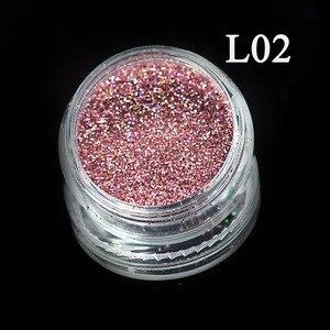 Image 2 - 1 Bottle Shining Dust Nail Art Glitter Decoration Pigment Powder Chrome Sequin Pink Laser Silver Polish Manicure Tool TRL01 16