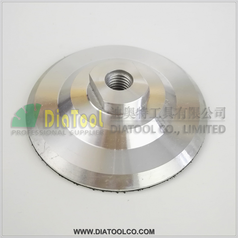 Diameter 100mm M14 Aluminium based backer for polishing pad, 4inch nylon backer pad  цены
