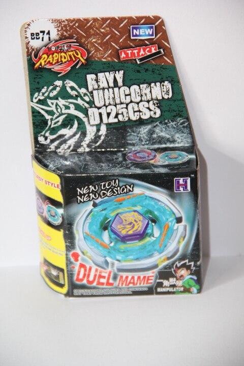 4D hot sale beyblade Hot Beyblade Ray Unicorno (Striker) D125CS Metal Masters 4D BB-71 Gyroscopes Toys Beyblade-Launchers po bri