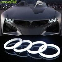 2PCS LED Cotton Angel Eyes Super Bright Soft LED Light Halo Rings Running Light DRL For