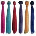 6PCS/LOT Hot Sale DIY BJD Wig Hair Colored Straight Doll Hair 25CM