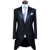 custom made to measure Wool black tailcoats with left chest pocket bespoke long tail tuxedo tailcoat,tailored evening suit
