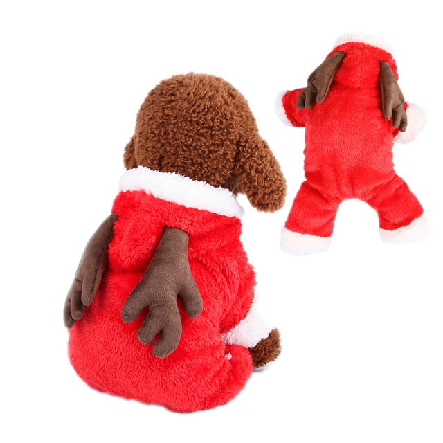 pet dog christmas costume transformed dress sheep rabbit elk jumpsuits winter clothes for puppy chihuahua christmas