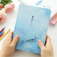 Creative trend Color Pages A5 Notebook Little Blue House Diary Book Hardcover diary Stationery School Supplies