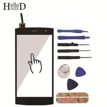 Tela de toque para homtom ht7/ht7 pro tela toque digitador vidro do painel frontal lente sensor substituição ferramentas + adesivo livre