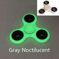 6 Color Gray Noctilucent Tri Spinner Fidget Toy ABS Plastic EDC HandSpinner ADHD Rotation Long Time