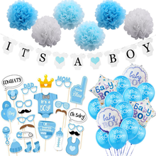 Baby Shower Boy Girl Decorations Set It's a Boy It's a Girl oh baby Balloons Gender Reveal Kids Birthday Party Baby Shower Gifts carioca набор крупных цветных карандашей tita maxi 6 цветов