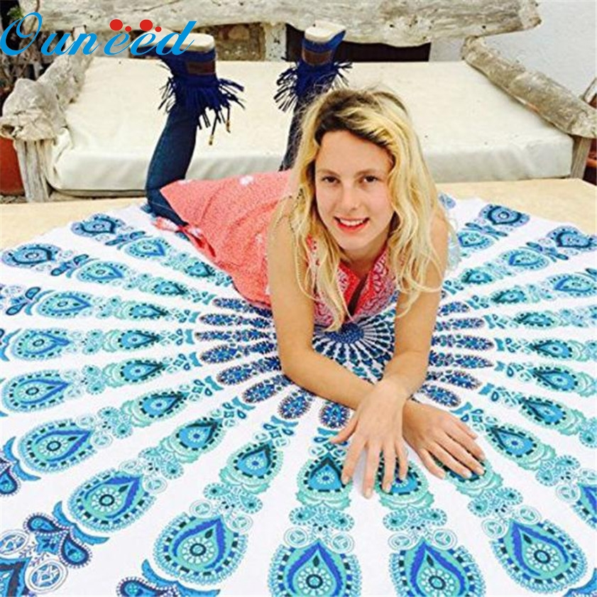 Zero Round Beach Pool Home Shower Towel Blanket Table Cloth Yoga Mat 170117