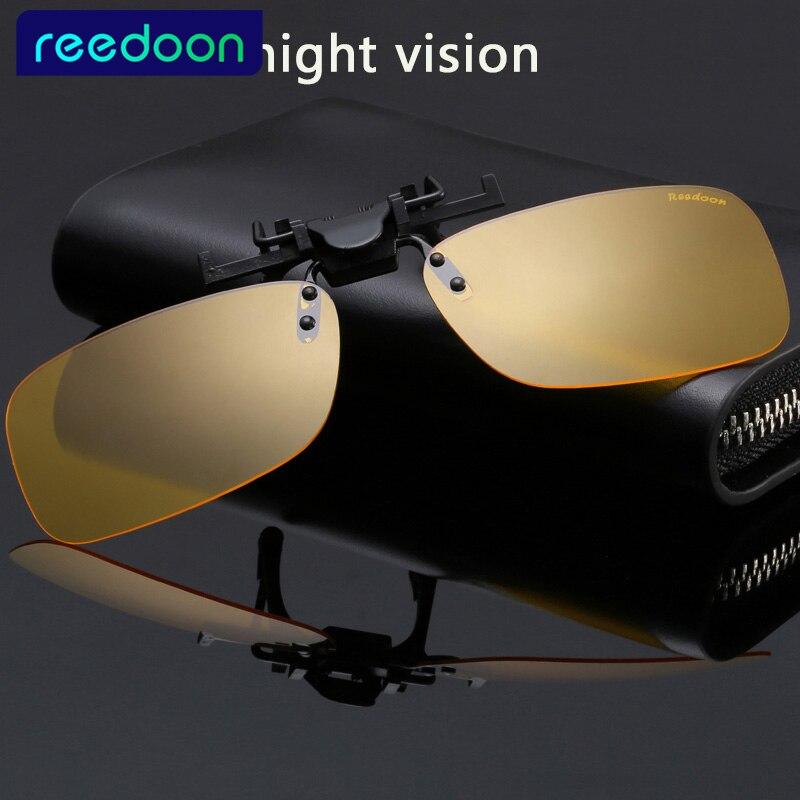 Brýle Brýle Clip Clip Polarized Lens Men / Women Coating Myopia Clip Sluneční brýle Night Vision Driving Glass 2201