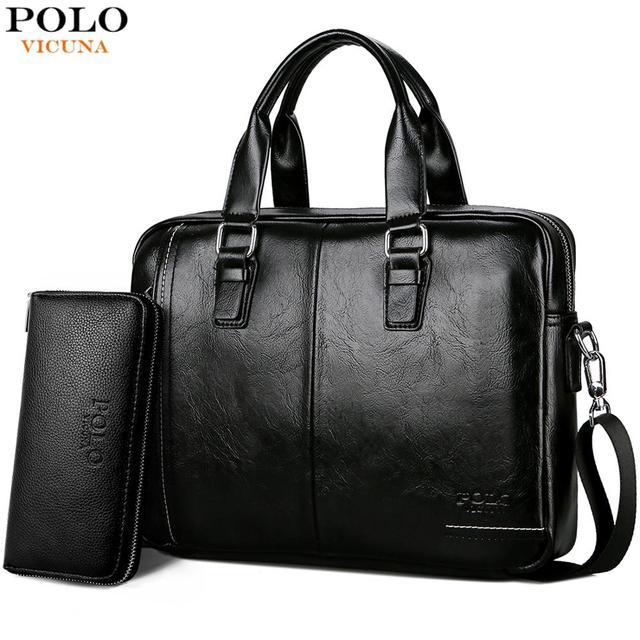 VICUNA POLO New Arrival High Quality Leather Man Messenger Bag Bag Set Brand Men's Briefcases Business Laptop Men Handbag