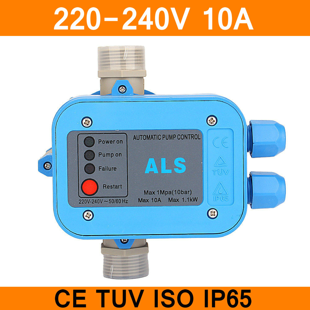 220V Automatic Pump Control Water Pump Pressure Controller Electric Electronic Switch 50/60Hz IP65 10A Automatically Work CE TUV цена