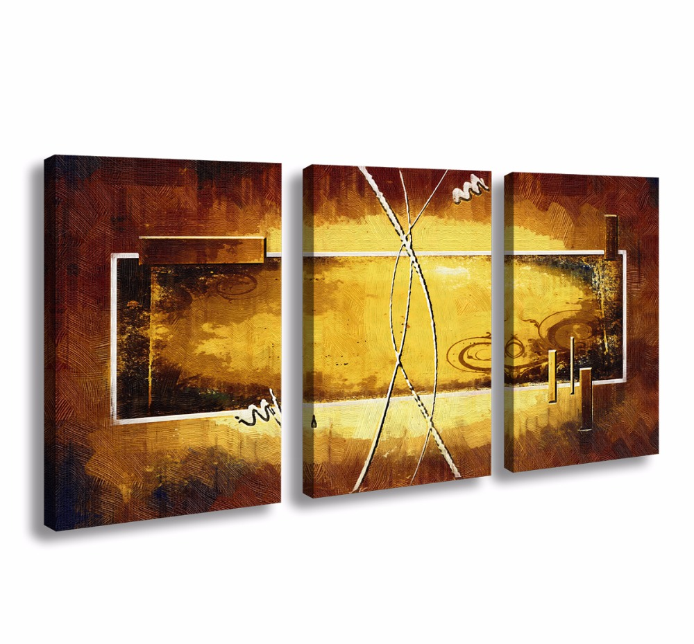 3 Panels Framed Abstract Canvas poster Wall Art Painting Modern Home ...