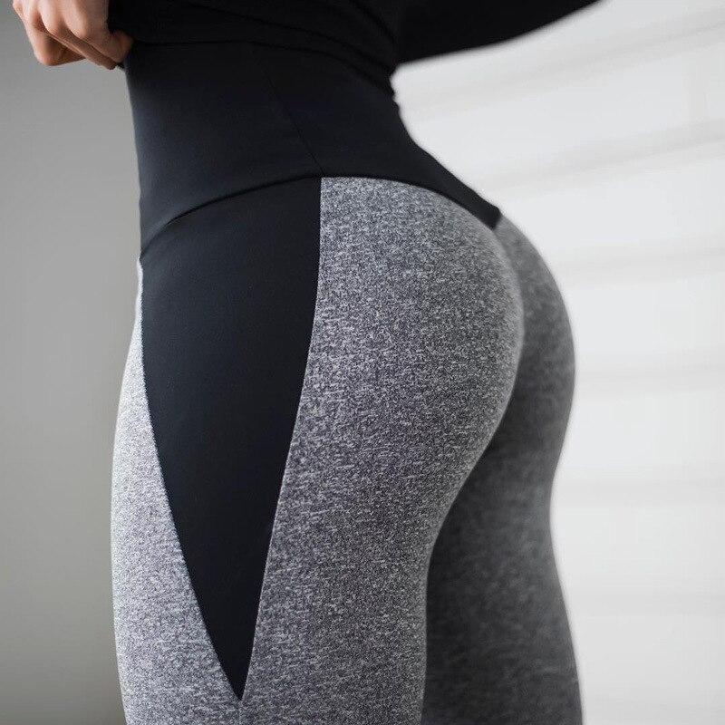 NORMOV Fashion Patchwork Women Leggings High Waist Elastic Push Up Spandex Ankle-Length Legging Causal Leggings Fitness Female