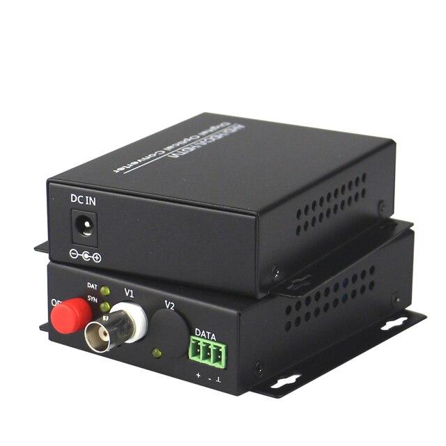 High Quality HD CVI 1 Channel Video Fiber Optical Converters Transmitter Receiver -For 720P 960P AHD CVI TVI HD Cameras CCTV
