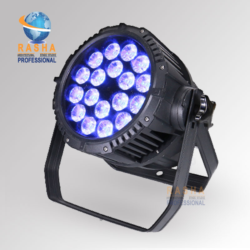 Rasha 2X Lit EXW Price IP65 Waterproof 18pcs*15W 5in1RGBAW LED Par Light,Outdoor Zoom Par Light For Stage Party,Event