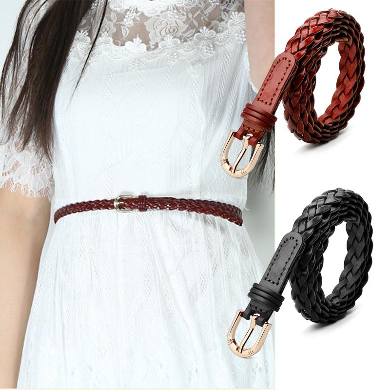 Catelles Thin Sieviešu jostas siksnas Sieviešu kleitas Modes trikotāžas tapas sprādzes brūna jostas Džinsi WOMAN vidukļa jostas sievietēm 1311