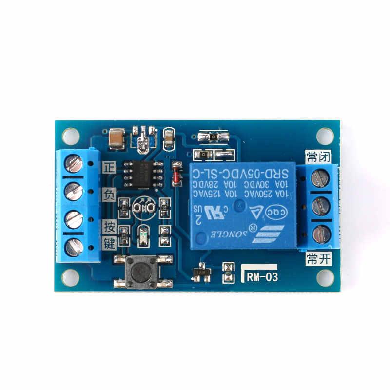 5 Pcs/lot 5 V 12 V simple Bond bouton Bistable Module relais modifié voiture démarrage et arrêt auto-verrouillage interrupteur une clé