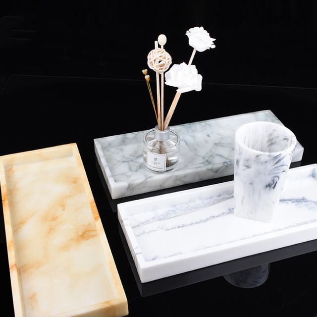 Marble Textured Serving Tray