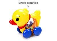 Baby Rammelaars Pull touw Eend Dieren Hand Jingle Schudden Bel Auto Rammelaars Speelgoed Muziek Tafelbel voor Kids 3