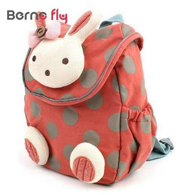 Мода мешок школы для детей мальчики девочки 3D милый кролик мешок анти-потерянный рюкзак дети детский сад мешок Животных дизайн детские сумки