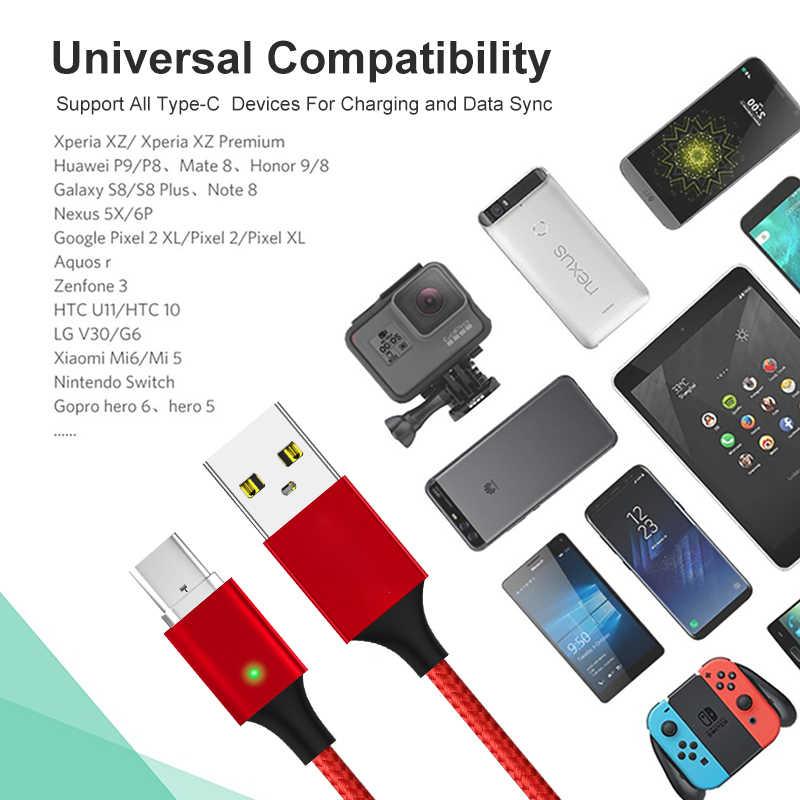ELFMIC rodzaj usb C kabel do Samsung Galaxy S10 9 szybkie ładowanie danych kabel do huawei Mate 20 Pro ładowarka do telefonu komórkowego przewód USB-C