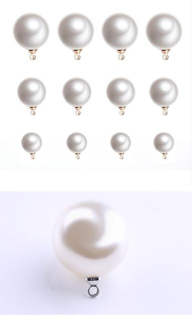 Бусины с имитацией жемчуга из АБС пластика круглые бусины для