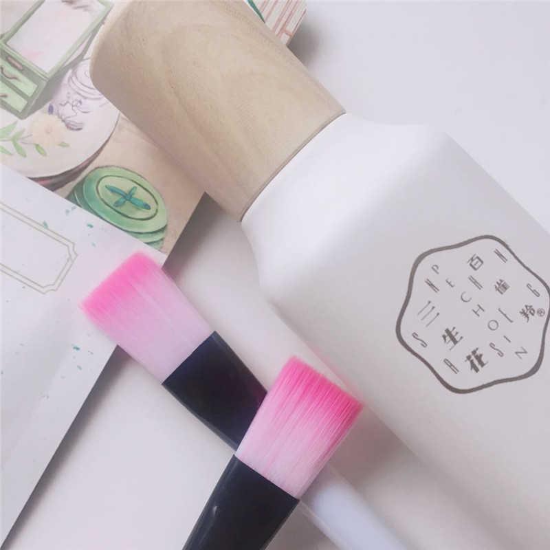 1 PC Bianco Viso Maschera Pennello Morbido Capelli Sintetici di Spazzola Bellezza Spazzola di Trucco Prodotti di base Pennello Per Il Trucco Principianti