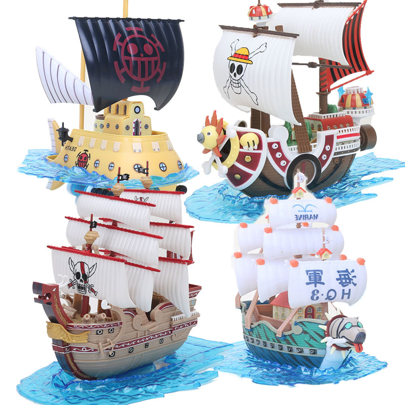 Anime One Piece Thousand Sunny Pirate Ship Boat Model PVC Action Figure boxed Collection Model Toy
