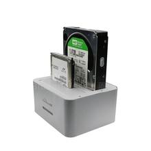 """Двойной 2-Bay док-станция для HDD SATA к USB 3.0 6 ТБ на слот костюм 2.5 """"3.5"""" HDD Док-станция с Дубликатор Клон функция"""