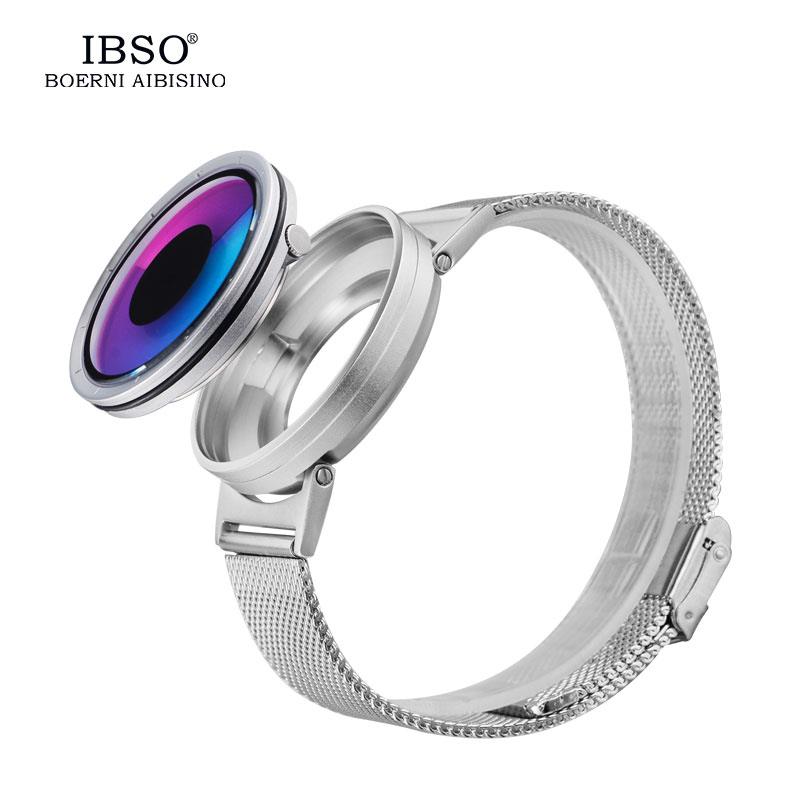 IBSO 2017 Mens Watches Top Brand Stainless Steel Strap Fashion Creative Hide Crown Quartz  Watch Men Relogio Masculino #3882 ibso top brand luxury mens watches 2017 quality stainless steel watch men fashion business quartz wristwatches relogio masculino