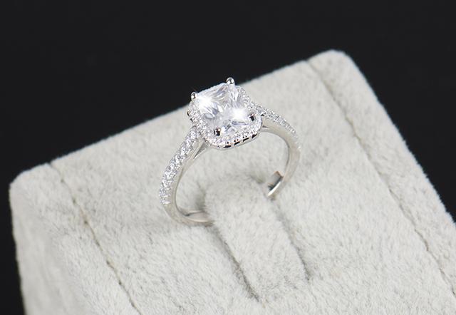 Solid Silver Rings zirconia