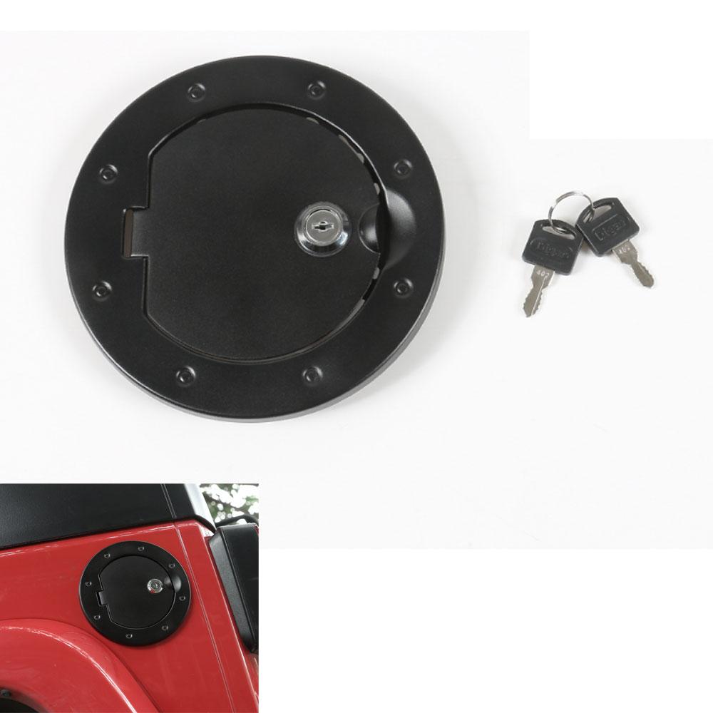 Алюминиевый сплав замок Топливо газ Крышка бака Крышка заливной горловины украшения, пригодный для Wrangler JK виллиса 2007-2016 автомобилей стайлинг автомобиля включает