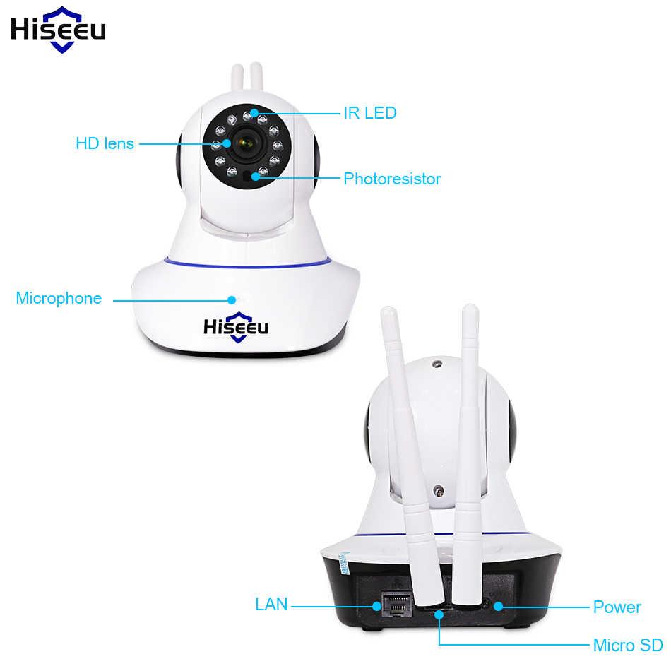 Hiseeu 720 P caméra IP sans fil Wifi caméra de Vision nocturne IP réseau caméra alarme CCTV sécurité à domicile WI-FI P2P 1MP