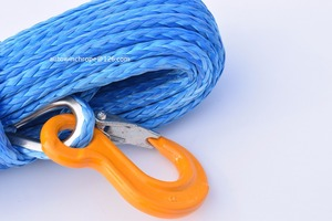 Image 2 - Free Shipping 10mm*26m Blue Synthetic Winch Cable,Rope for Electric Winches,Off Road Rope,Plasma Winch Cable