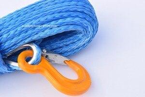 Image 2 - Freies Verschiffen 10mm * 26 mt Blau Synthetisches Handkurbel kabel, Seil für Elektrische Winden, Off Road Seil, Plasma Winde Kabel