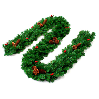 Christmas Pine Garland Artificial Green Wreaths Christmas Rattan Hanging Ornaments For Home Party Xmas Tree Decoration