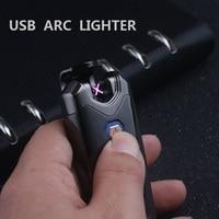 Luxury USB Electronic Cigarette lighter Portable Novelty Plasma lighters USB isqueiro gadgets for man No gas Smoking Encendedor