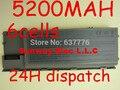 5200 MAH Nueva batería del ordenador portátil Para Dell Latitude D620 D630 D631 D630c serie, reemplazar: 0GD775 0GD787 0JD605 0JD606 0JD610