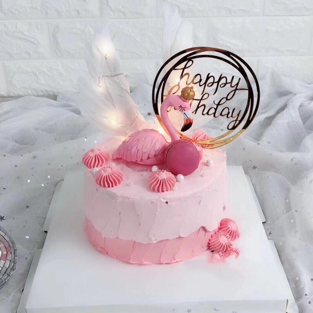 1PC Polyresin Flamingos Party Wedding Cake Topper Supplies ...