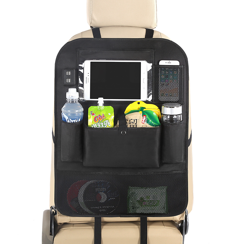 Image 2 - LCAV Car Seat Back Organizer bag with 4 USB charger cable-in Stowing Tidying from Automobiles & Motorcycles