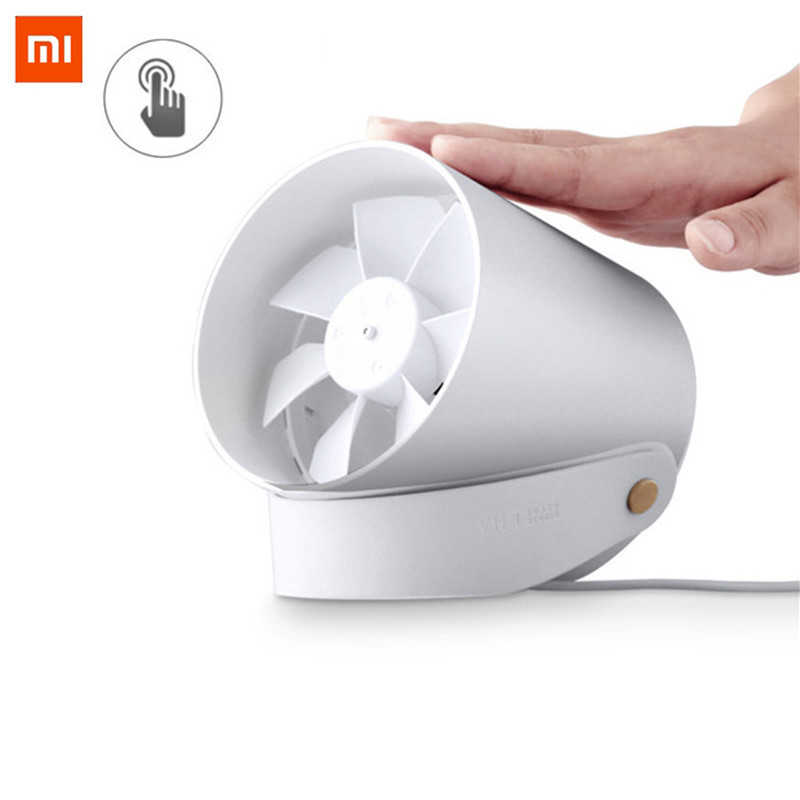 XiaoMi Mijia Original VH Double leaf silent fan low noise Touch Switch and Second Gear Adjustable Potable Travelling office Fan xiaomi vh fan stylish double blade mute cycle desktop silent fan low noise touch sensor switch and second gear adjustable