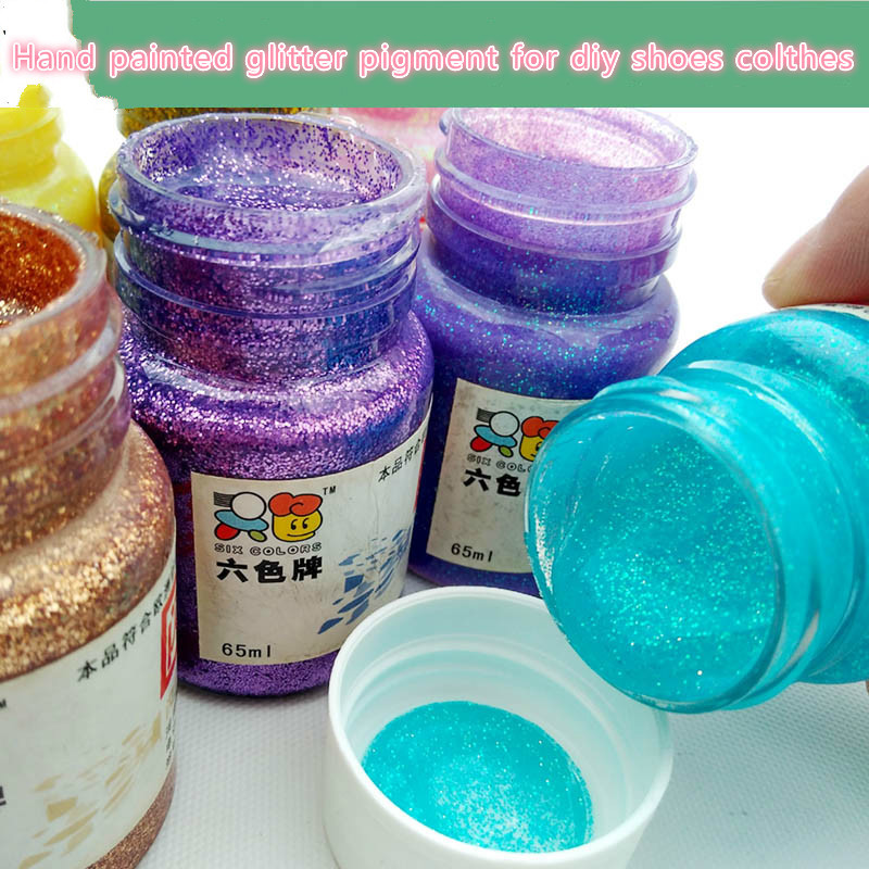 30ML Flash Pigment, Hand-painted Diy Pigment Hand Painted Textile Pigment For Canvas/Clothes/decoration Acrylic Paints