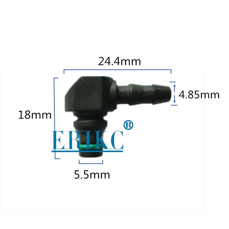 ERIKC возвратного масляного обратного T и L Тип для Bosch 110 серии дизель CR Запчасти Топливная форсунка Пластик 3 двухсторонняя Соединительная труба 10 шт./пакет - Цвет: L type for Bosch