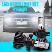 1 Pair PSX24W PSX24 Led Headlight Kit External Lighting Fog Light DRL Lamp CreeLed XHP50 4000Lm