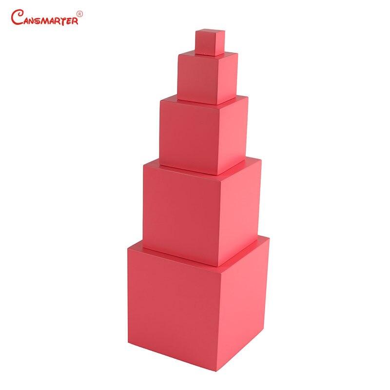Children Educational Toys Montessori Pink Tower 5 Steps Preschool Montessori Numbers Sensory Math Toys and Games Kids LT062-3