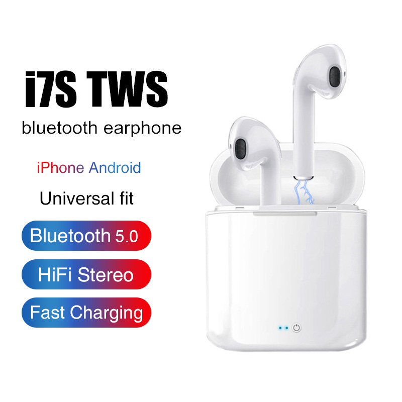 <font><b>i7s</b></font> <font><b>TWS</b></font> Mini <font><b>Wireless</b></font> <font><b>Bluetooth</b></font> <font><b>Earphone</b></font> <font><b>Stereo</b></font> <font><b>Earbud</b></font> Headset With Charging Box Mic For Iphone Xiaomi All Smart Phone image