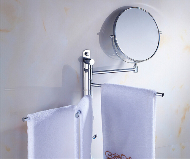 Fashion movable bathroom Towel Bar Towel Holder brass material Towel rack  with hooks and dressing mirror. Aliexpress com   Buy Fashion movable bathroom Towel Bar Towel