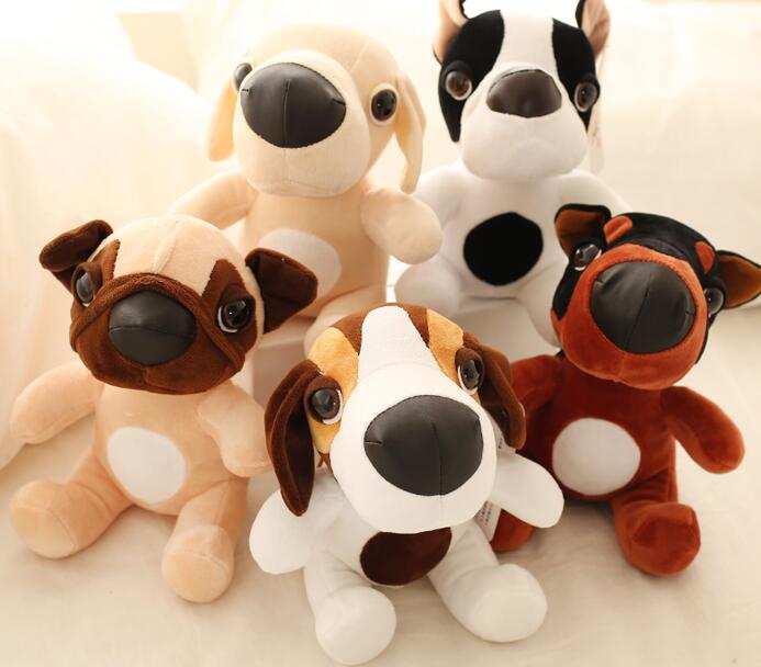 1pc 25cm little cute big nose starling dog NEW YEAR Christmas kids gift plush doll novelty stuffed toy